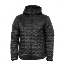 Luke Mens Paddie Spot Quilted Hooded Jacket (Black)