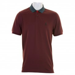 Luke Mens Plants Polo Shirt (Luxury Port)