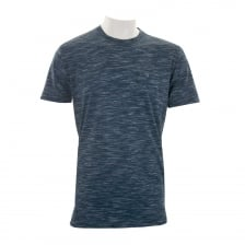 Luke Mens Skinny Multi Space T-Shirt (Navy)
