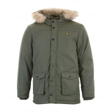Lyle & Scott Juniors Fleece Lined Parka (Olive)