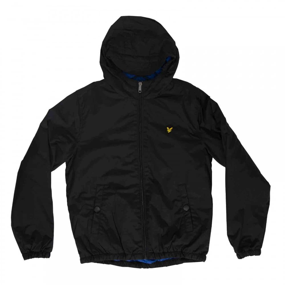 Lyle Amp Scott Youths Classic 316 Hooded Jacket True Black