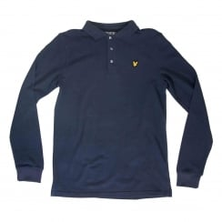 Lyle & Scott Youths Classic Long Sleeve Polo Shirt (Deep Indigo)