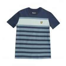 Lyle & Scott Youths Stripe T-Shirt (Navy)
