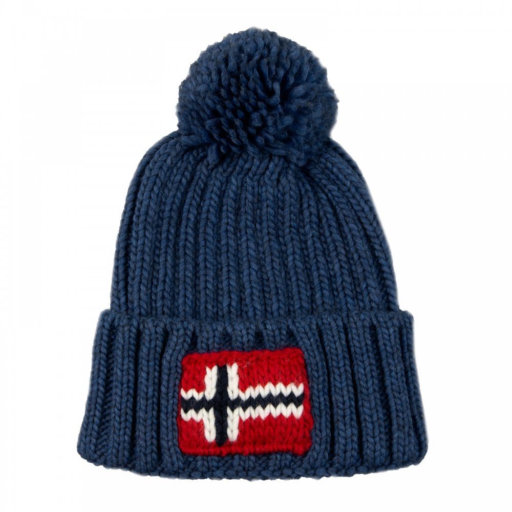 6e21c4aaab9 Napapijri Semiury Knitted Hat (Blue) - Mens from Loofes UK