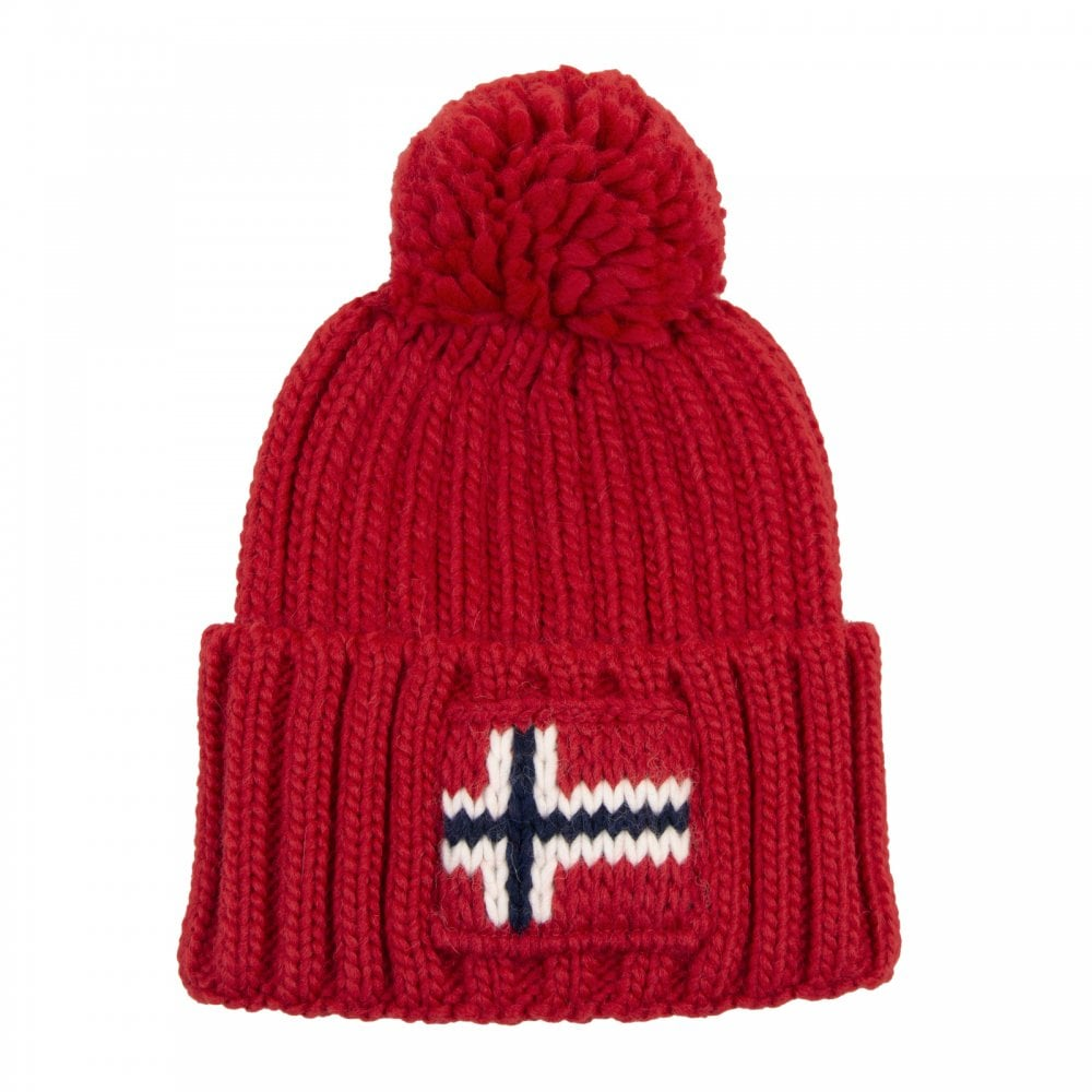 ba46304286a Napapijri Semiury Knitted Hat (Red) - Mens from Loofes UK