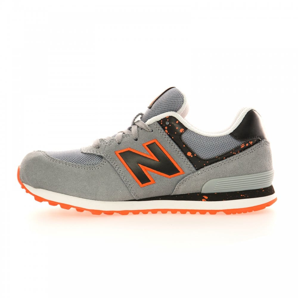new balance 574 kids grey/orange