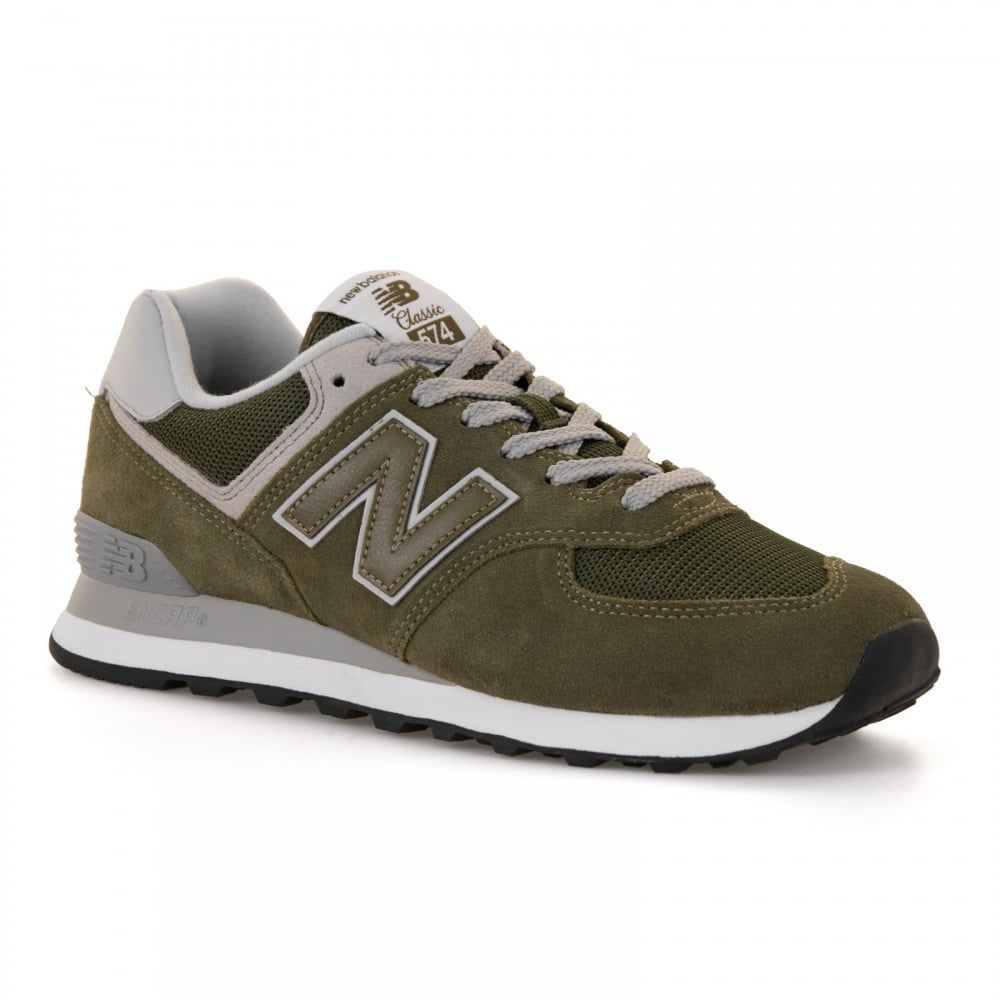 New Balance Mens 574 Trainers (Khaki) - Mens from Loofes UK 3f0bb83398ea
