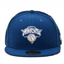 New Era Mens NBA 59Fifty New York Knick Cap (Blue/White)