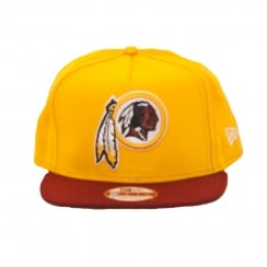 New Era Mens NFL 9Fifty Washington Redskins Snapback Cap (Yellow/Red)