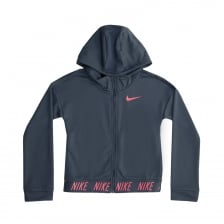 Nike Girls Studio Dri Fit Hoodie (Blue)