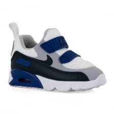Nike Infants Air Max 90 Tiny Trainers (White/Blue/Nay/Grey)