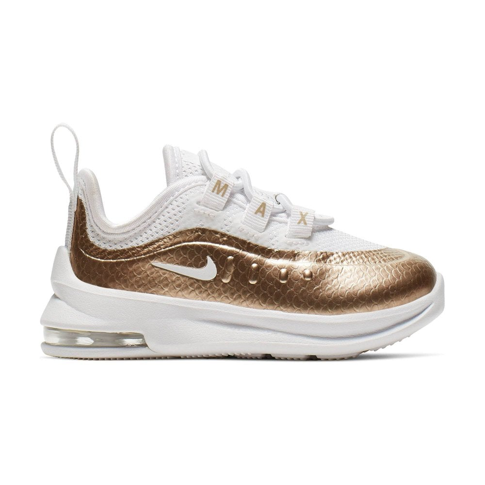 bfa6fb9d91 Nike Infants Air Max Axis EP Trainers (White / Gold) - Kids from ...