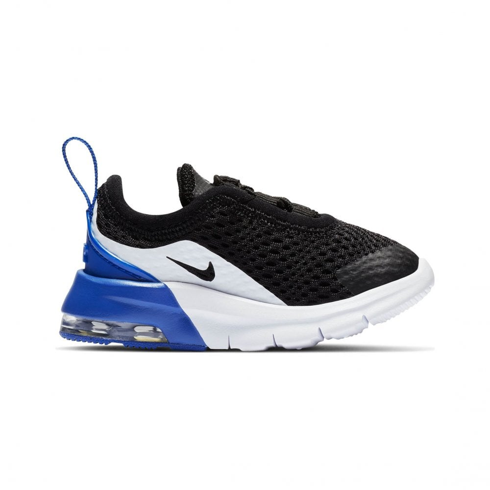 low priced 94471 6ba0c Nike Infants Air Max Motion 2 Trainers (Black   White   Blue)