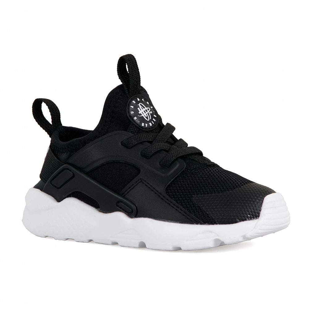 low priced c9c13 81e66 Nike Infants Huarache Run Ultra Trainers (Black)