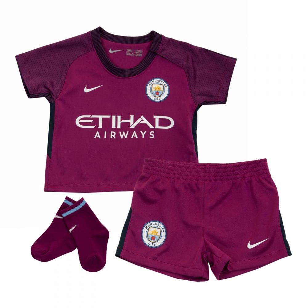 bf770bbbf NIKE Nike Infants Manchester City 2017 2018 Away Kit (Berry ...