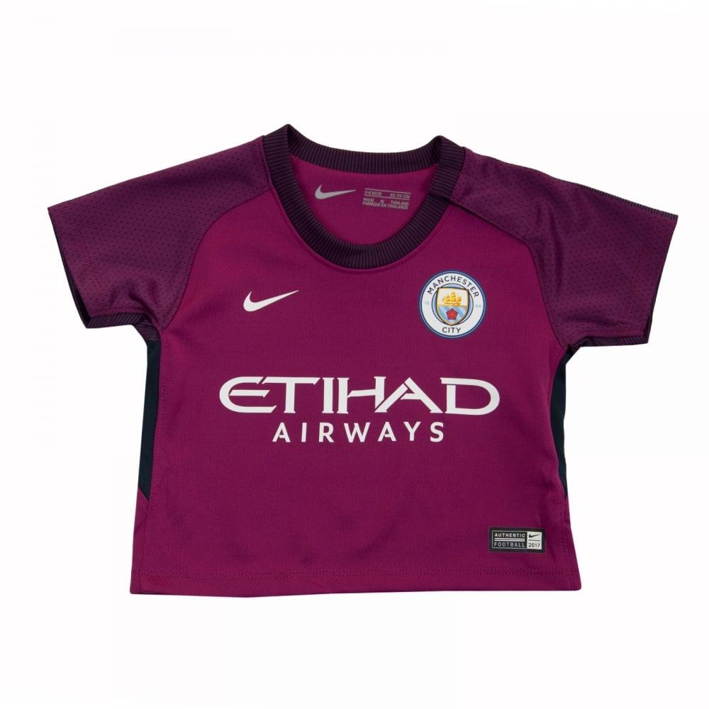 size 40 50436 2401b Infants Manchester City 2017/2018 Away Kit (Berry)