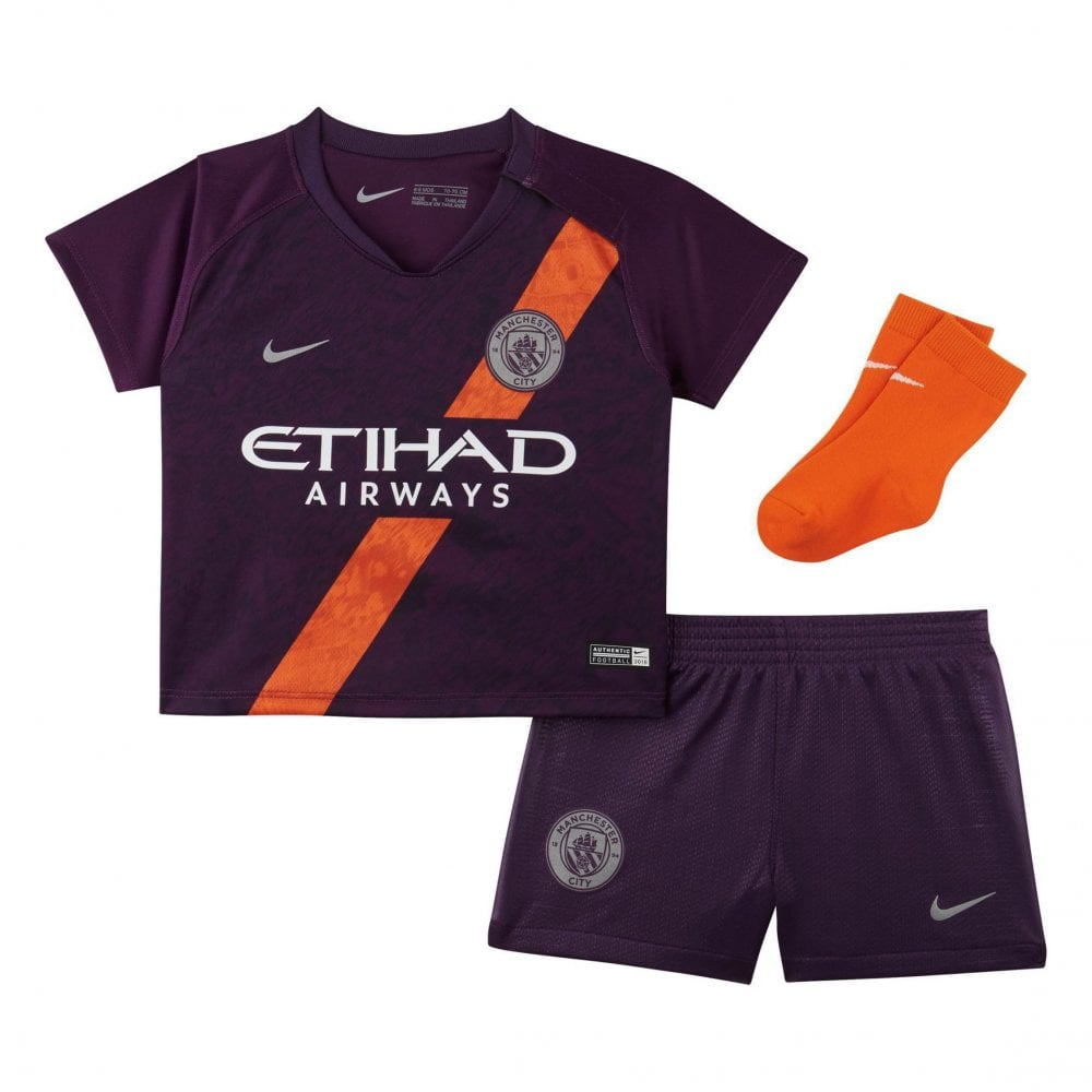 new styles 3530b 7a2eb Infants Manchester City 2018/2019 Baby 3rd Kit (Purple)