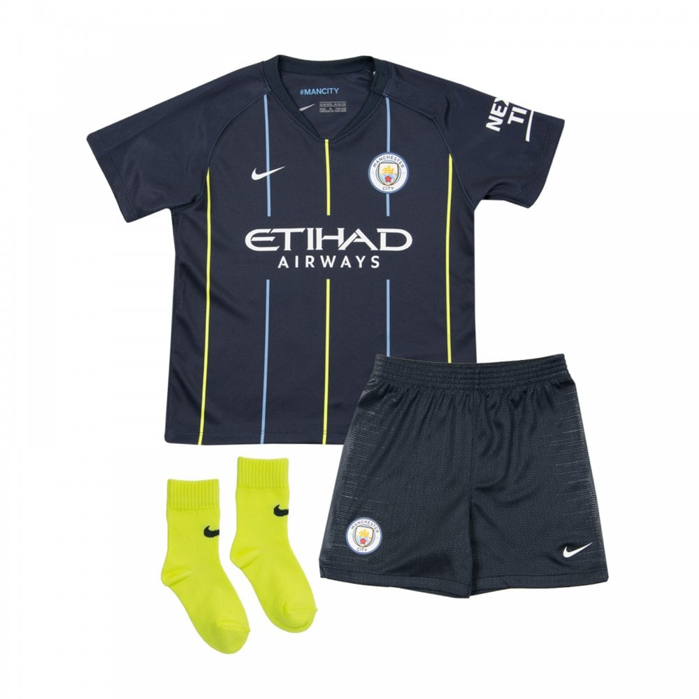sneakers for cheap 4627a 1ce8b Infants Manchester City 2018/2019 Baby Away Kit (Navy)