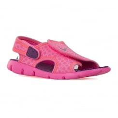 Nike Infants Sunray Adjust 4 Sandals (Pink Power/Bold Berry/Total Orange)
