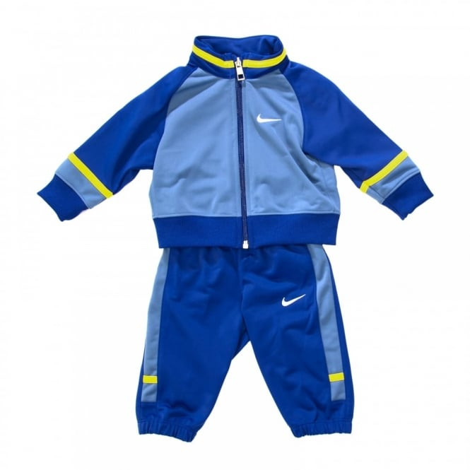 nike infants t45 tracksuit fog blue yellow kids from loofes uk