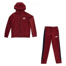 Nike Juniors Air Fleece Track Suit (Red)