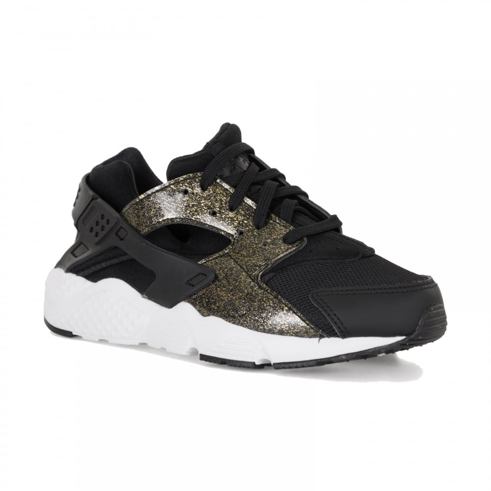 nike huarache junior black