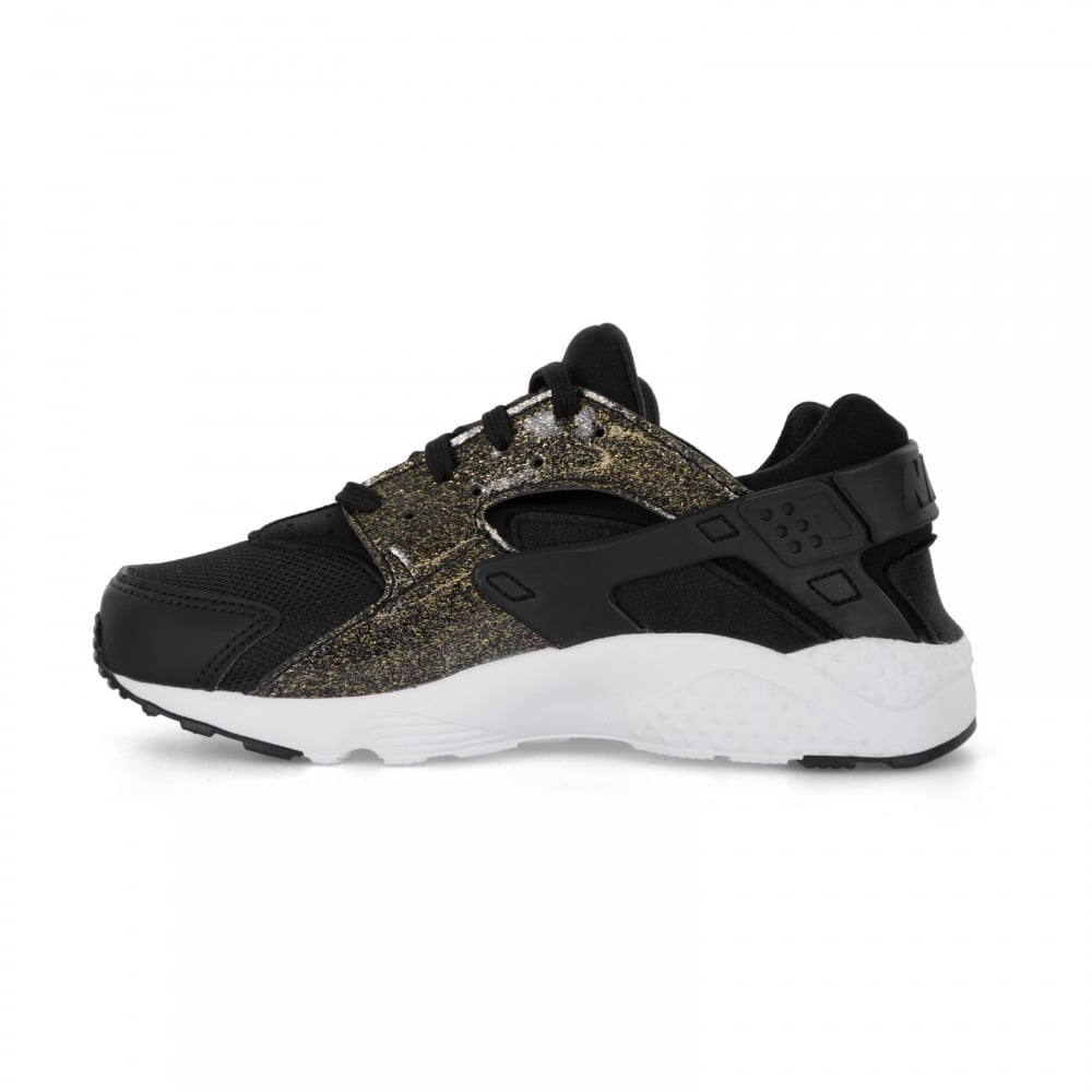 1f51677acefc ... clearance nike juniors air huarache run 417 trainers black gold f3b6b  4d6f1