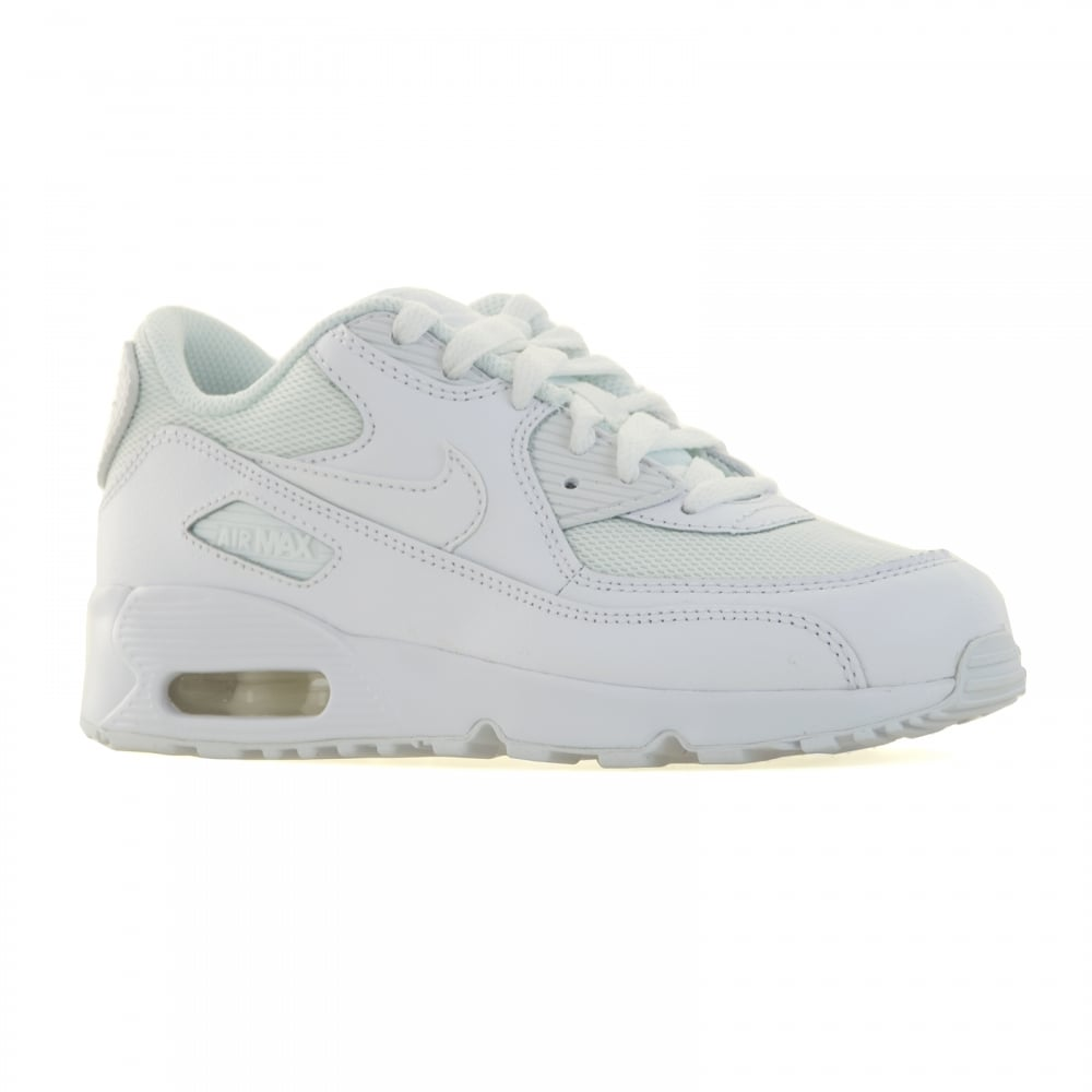 official photos 967d2 4f01e Nike Juniors Air Max 90 Mesh Trainers (White)