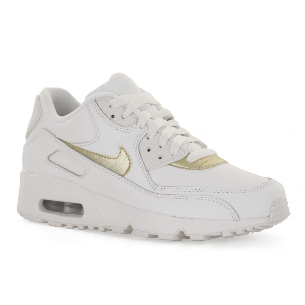 Nike Juniors Air Max 90 Mesh Trainers (White) - Kids from Loofes UK 7808f1f682f3c