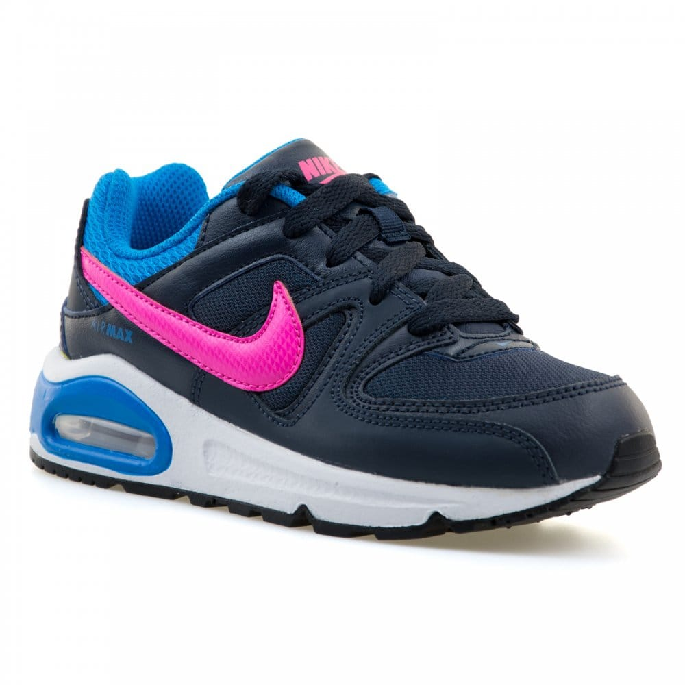 nike juniors air max command trainers obsidian pink power. Black Bedroom Furniture Sets. Home Design Ideas