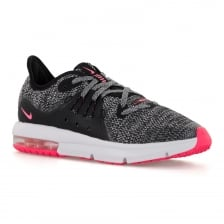 Nike Juniors Air Max Sequent 3 118 Trainers (Black/White/Pink)