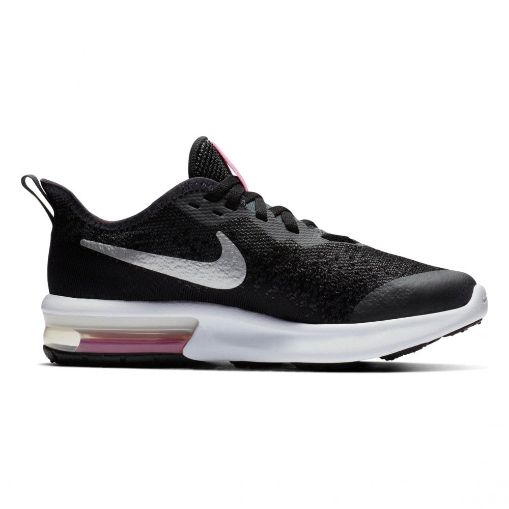 Juniors Air Max Sequent 4 Trainers (Black Pink)