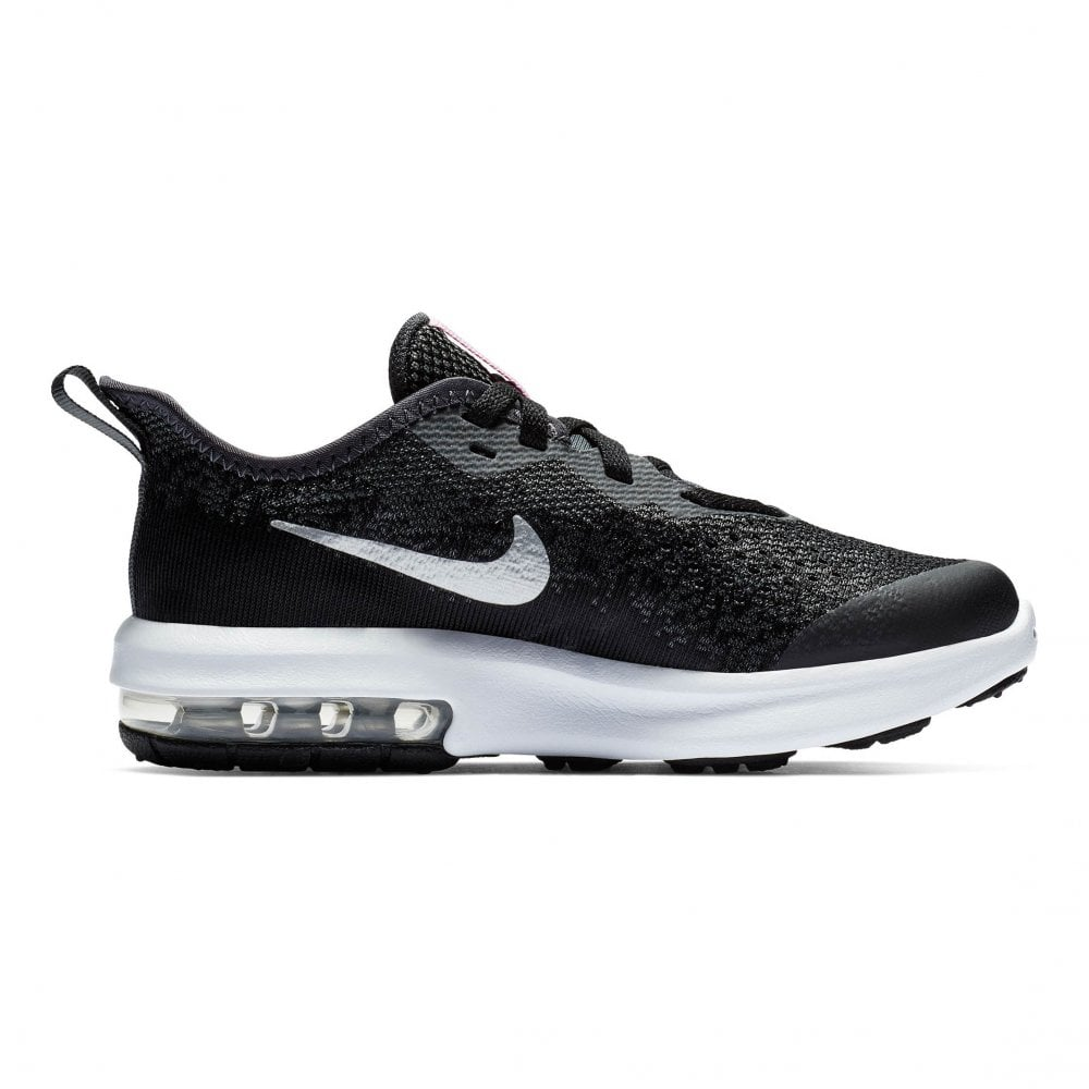 29f9916dce Nike Juniors Air Max Sequent 4 Trainers (Black / Silver) - Kids from ...