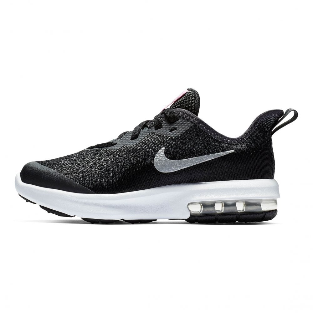 Juniors Air Max Sequent 4 Trainers (Black Silver)