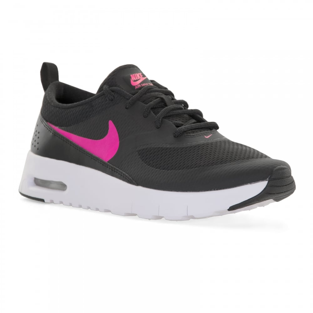 nike juniors air max thea trainers black pink kids. Black Bedroom Furniture Sets. Home Design Ideas