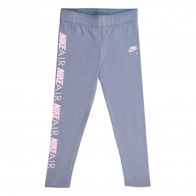 0f934e82c604 Nike Juniors Air Side Logo Leggings (Grey Pink) - Kids from Loofes UK