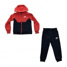 Nike Juniors Boy Hooded 316 Track Suit (Red)