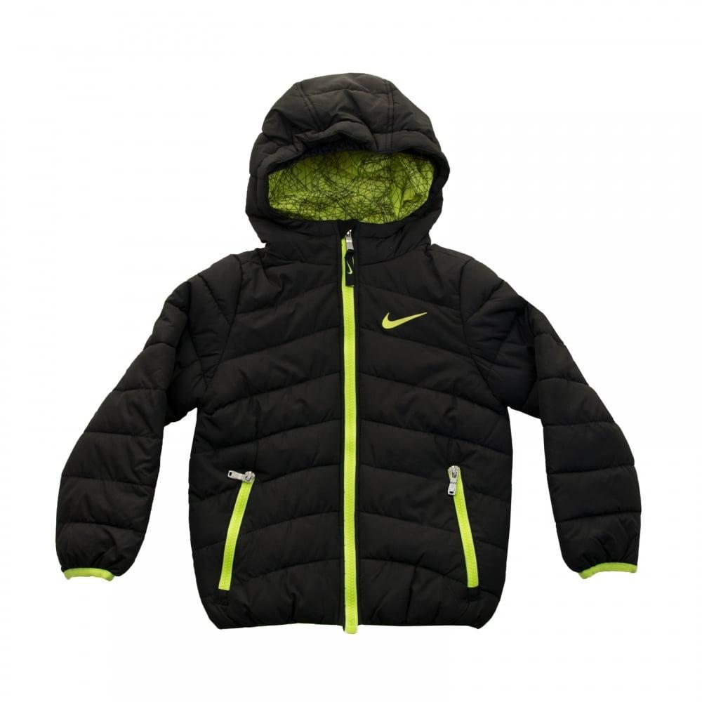 f39c8fff4ab6 Nike Juniors Boys Hooded Padded Jacket (Black) - Kids From .