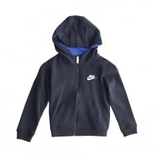 Nike Juniors Club Fleece 316 Hooded Top (Obsidian)