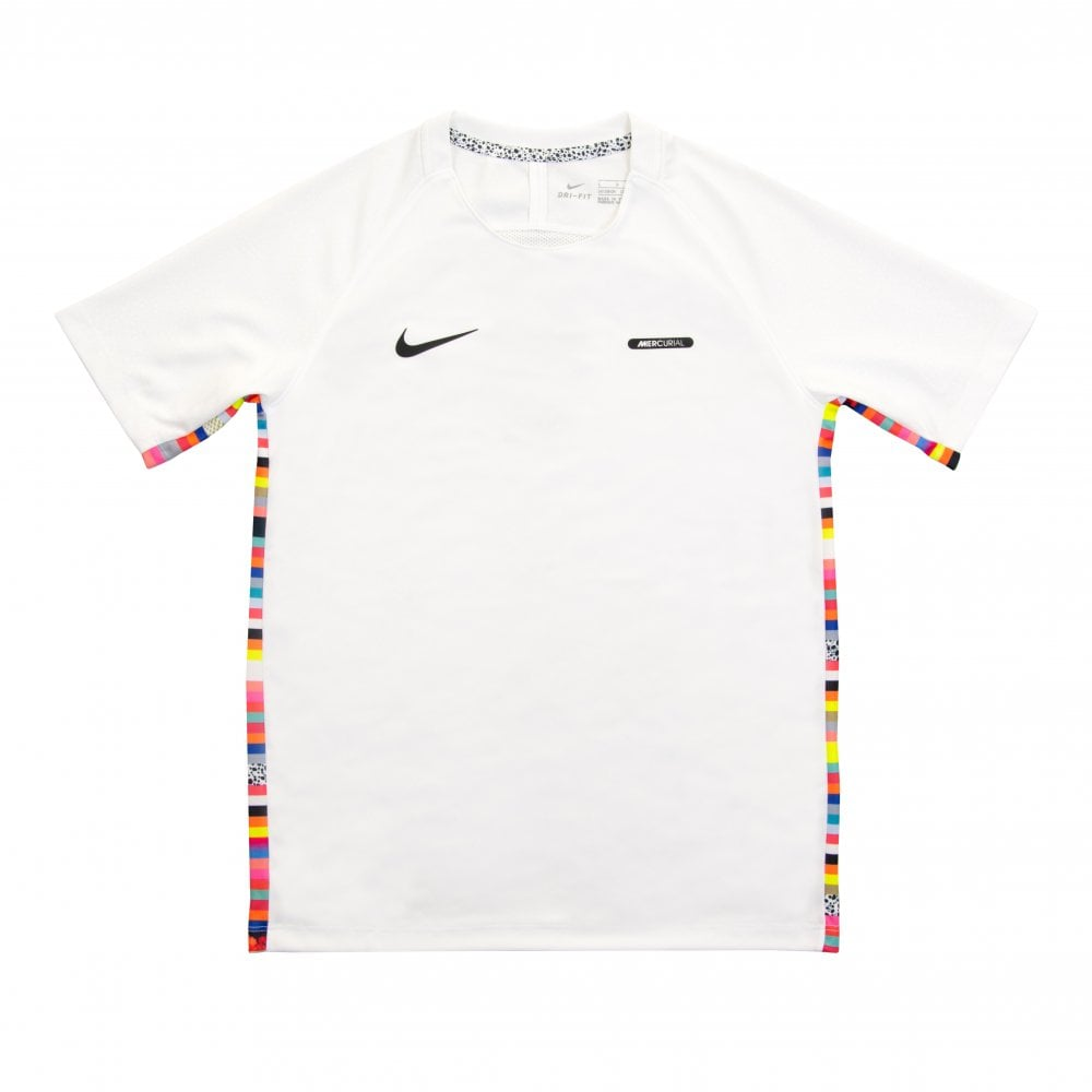 lowest price vast selection pick up Juniors CR7 Mercurial Dri-FIT Short Sleeve T-Shirt (White)