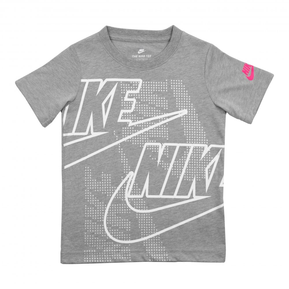 4e608b81e Nike Juniors Digi Futura Logo Print T-Shirt (Grey) - Kids from Loofes UK