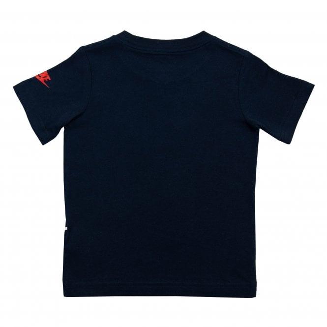 54e6cadd7db7 Nike Juniors Digi Futura Logo Print T-Shirt (Navy) - Kids from Loofes UK