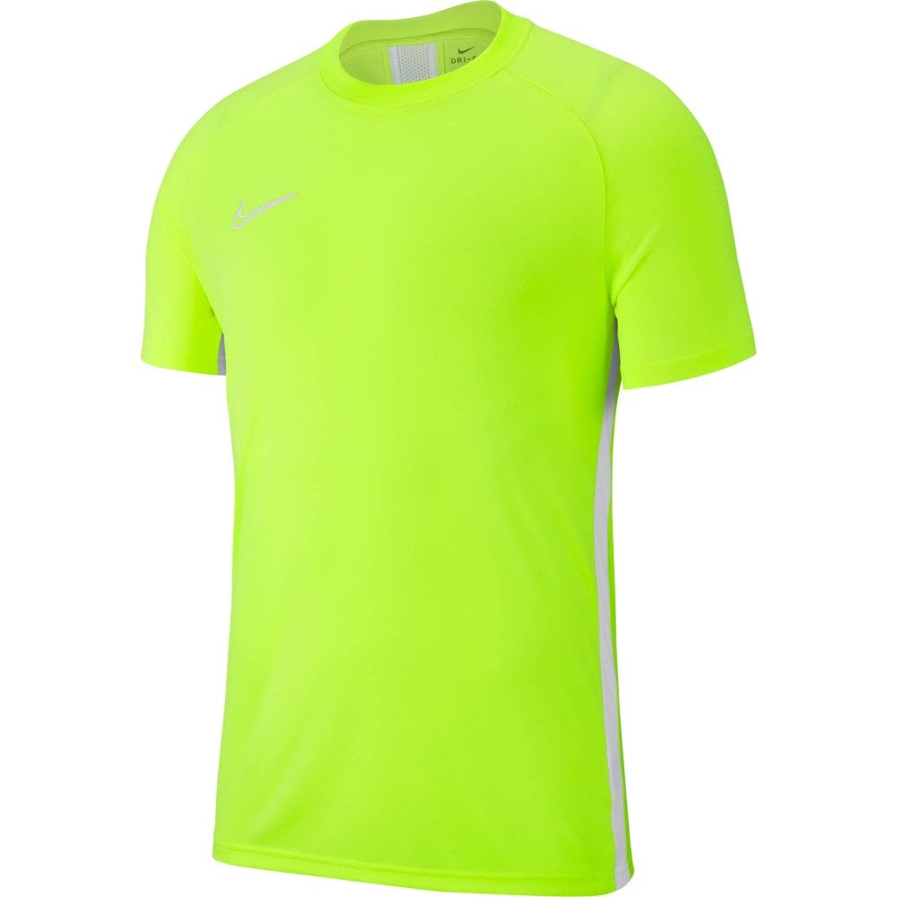 cc353f408a40 Nike Juniors Dri-FIT Academy19 Football T-Shirt (Volt) - Kids from ...