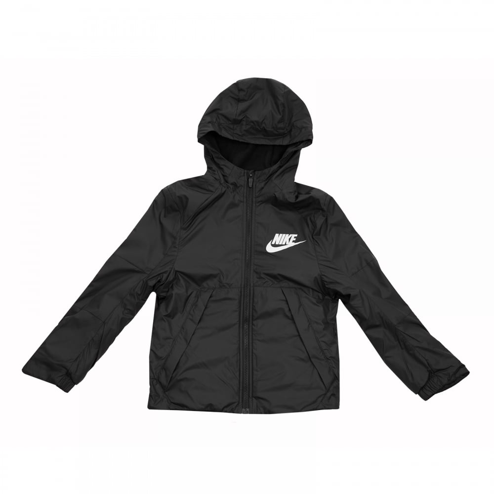 e2a552a7592d NIKE Nike Juniors Fleece Lined Hooded Jacket (Black) - Coats ...