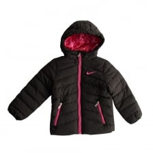 Nike Juniors Girls Hooded Padded 316 Jacket (Black)