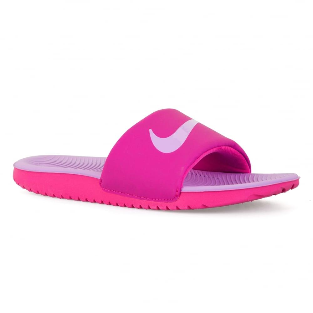 ded5caee0 Nike Juniors Girls Kawa Slide Flip Flops (Pink Lilac) - Kids from ...