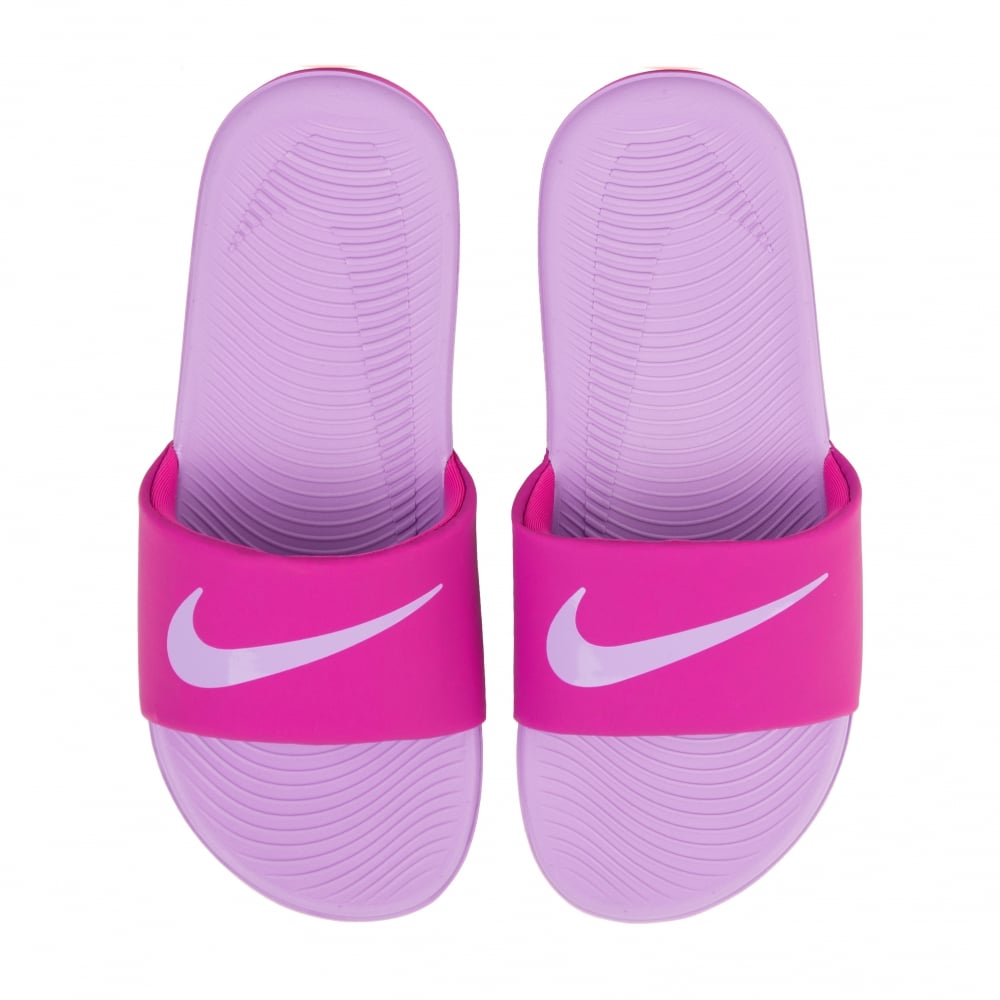 d1f008cc5d7 Nike Juniors Girls Kawa Slide Flip Flops (Pink Lilac) - Kids from ...