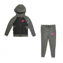 Nike Juniors Girls NSW Track Suit (Carbon)