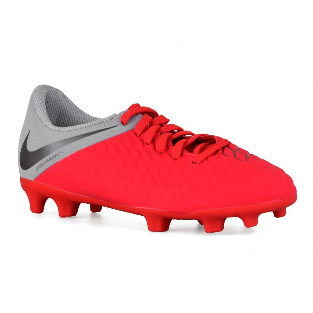 6c36c91b4bf Nike Juniors Hypervenom 3 Club FG Football Boots (Red) - Sports from ...