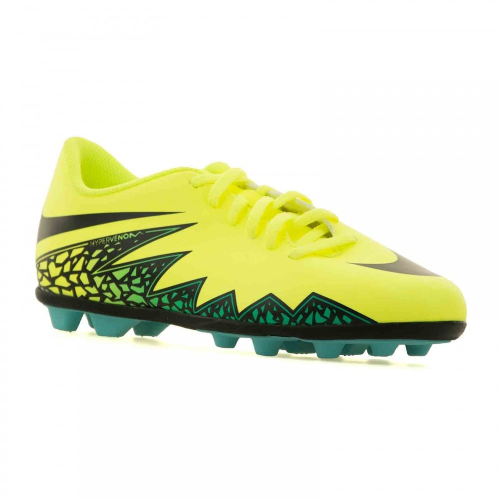 6501d11017f2 Nike Juniors Hypervenom Phade II Football Boots (Volt Black Hyper Turquoise)